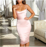 Asia Satin Midi Dress - Time Glam