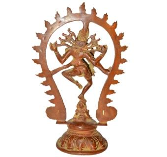 Lord Shiva (Natraj) in Dancing Position Statue of Brass By Aakrati