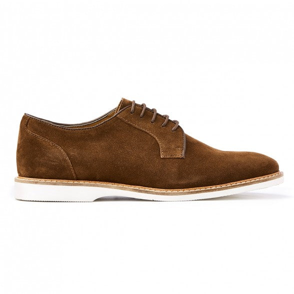 Mens suede derby lace-up shoes