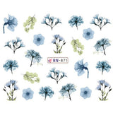 1pc Water Sticker Nail Art Daisy Sakura Lavender Floral