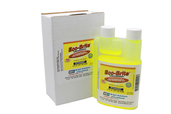 B704008BY - Eco-Brite™ Universal A/C Dye 8 oz. Self-Measuring Bottle (6 pack)