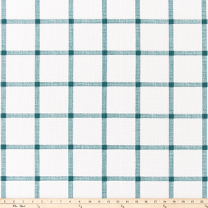 Aaron Plantation Blue Slub Canvas Fabric By Premier Prints