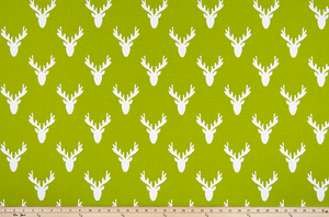 Antlers Chartreuse Fabric By Premier Prints