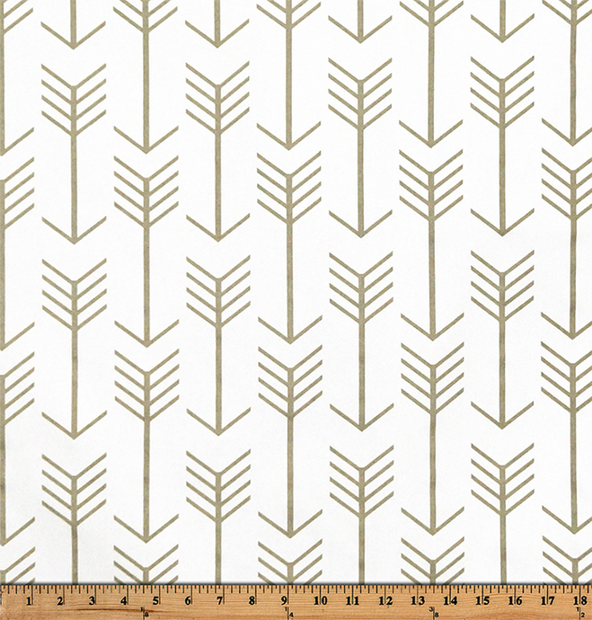 Picture of Tan Printed Fabric with Repeating Arrow Native Indian Pattern