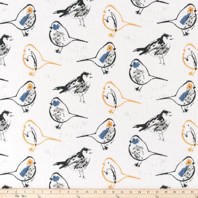 photo of repeating bird pattern fabric