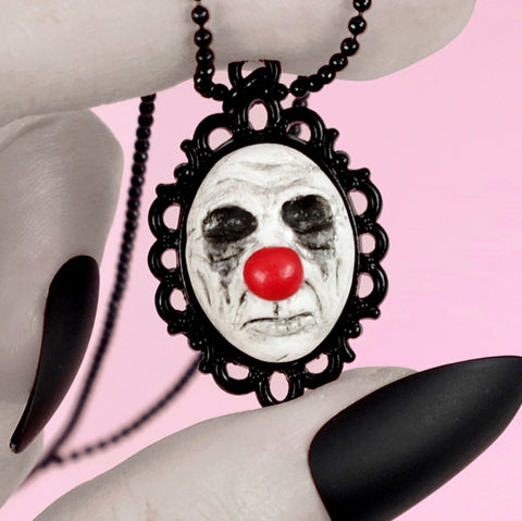 horror clown necklace