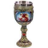 1Piece Ornamental Painted Dragon Goblet Gothic Drinking Refreshment Goblet Dragon Medieval Wine Goblet Chalice Cup