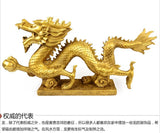 Bronze, dragon ornaments, Feng Shui, decorations, Home Furnishing, office, copper Dragon crafts, statue, figurine, gift~