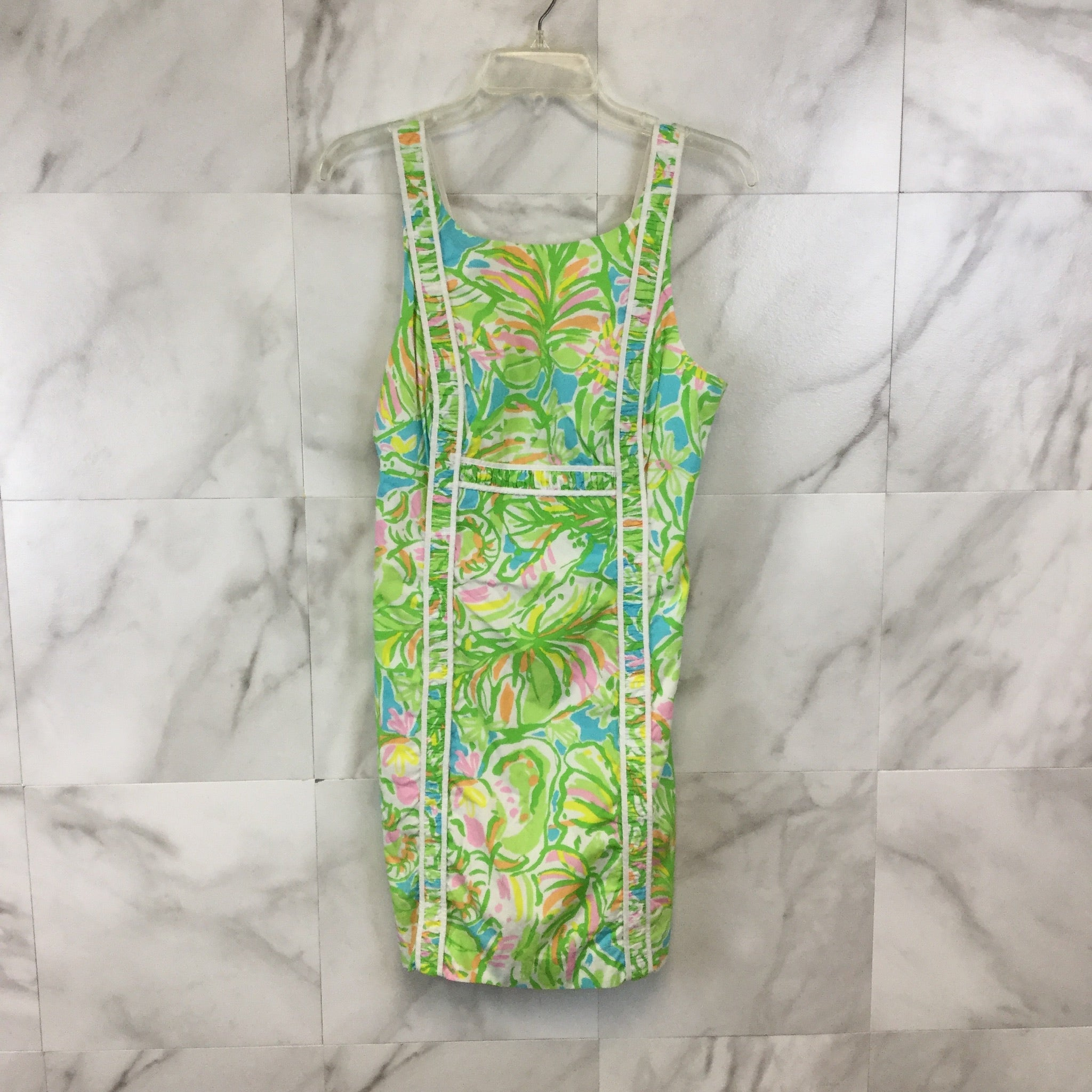 Lilly Pulitzer Fryer Shift Dress in Elephant Ears - Size 6
