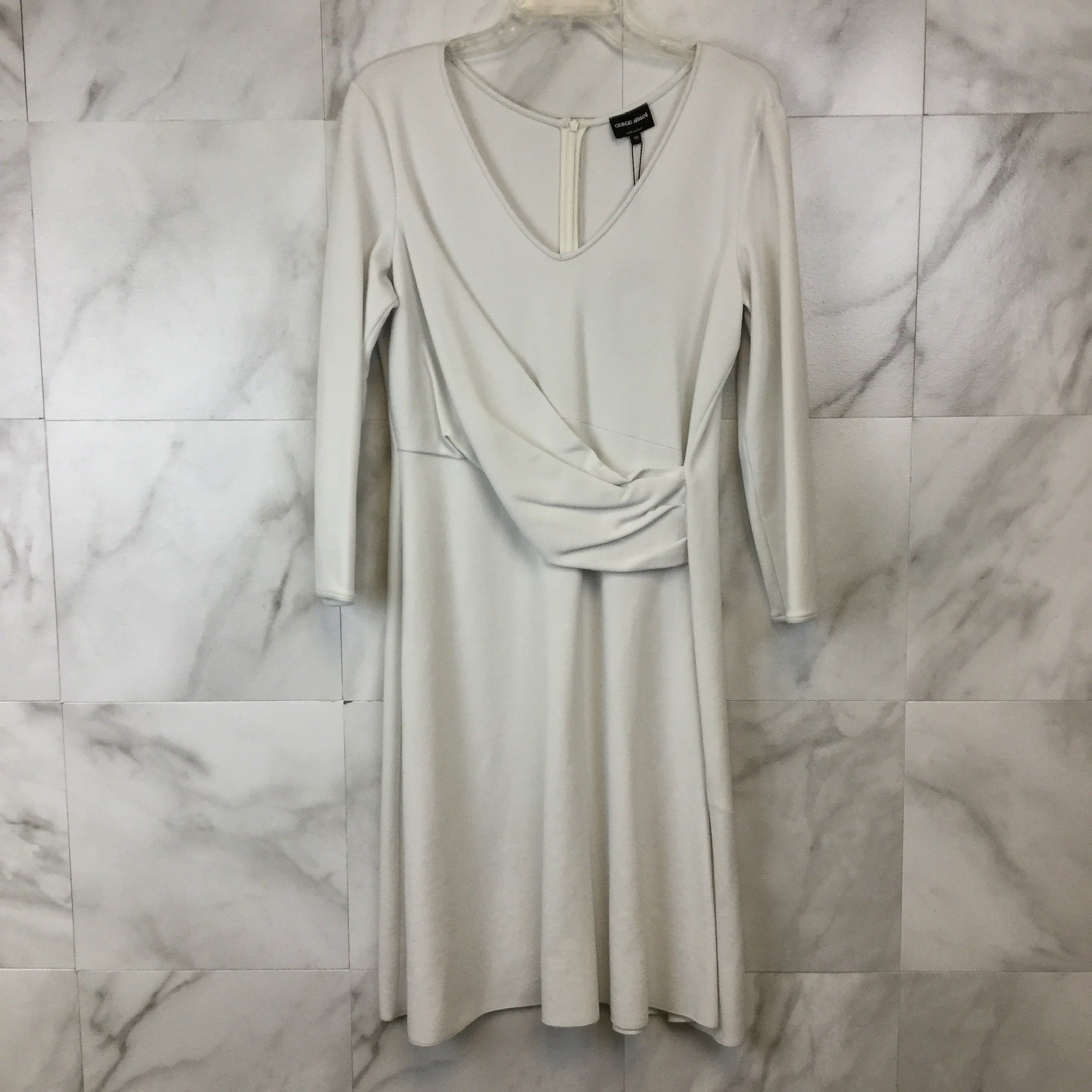 Giorgio Armani Faux Wrap Dress - size 14