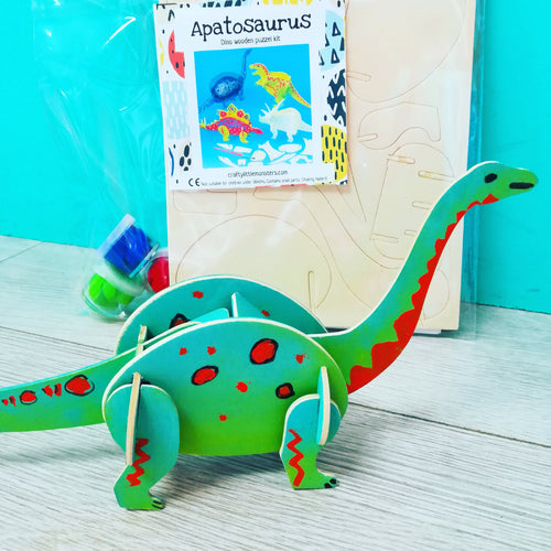 3D wooden Dinosaur craft kit