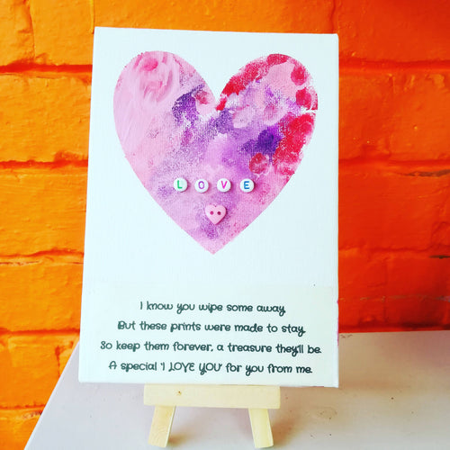 heart finger print craft kit