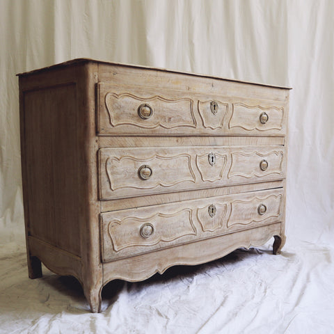 Bleached Oak Commode ca. 1890s