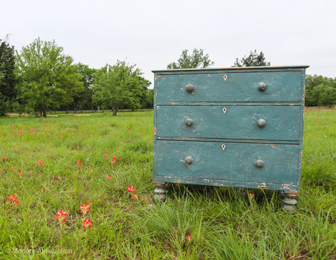 RT 1890's Painted Blue Chest