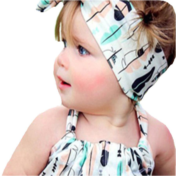 """The BowKnot"" - Elastic HeadBand for baby girls - Go Jingle Bells"