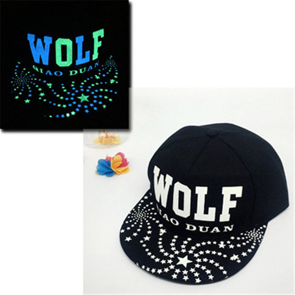 SuperMan, Wolf - Dark Glow Cap - For Men and Women - Go Jingle Bells