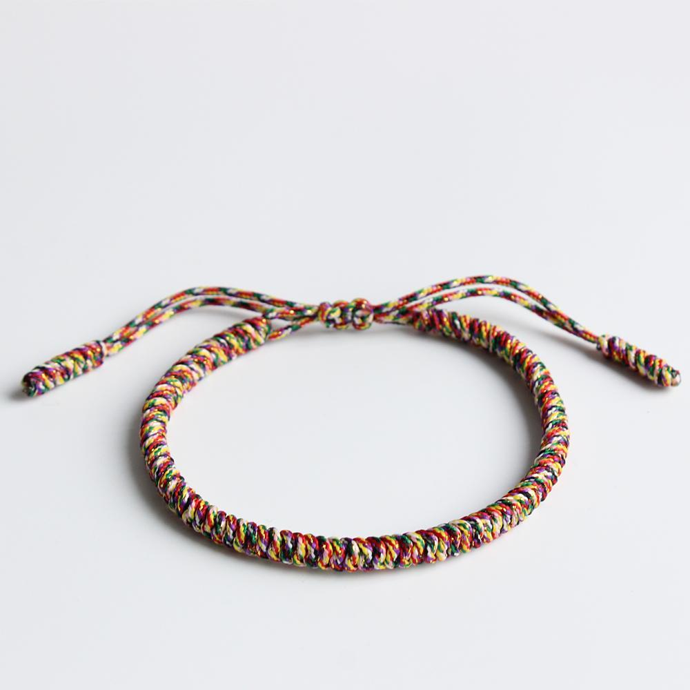 Handmade Knots Lucky Rope Bracelet (7 Colors Holy Light of Buddha)