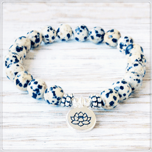 Healing Dalmatian Jasper Charm Bracelet (Limited Offer 50% OFF)+ 10% Donation