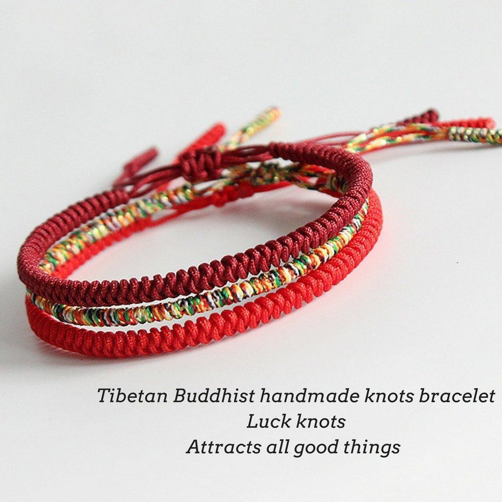 Hand Made Knots Lucky Rope Bracelet + 10% Donation