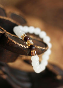 Healing White Chalcedony Bracelet (Limited Availability) + 10% Donation
