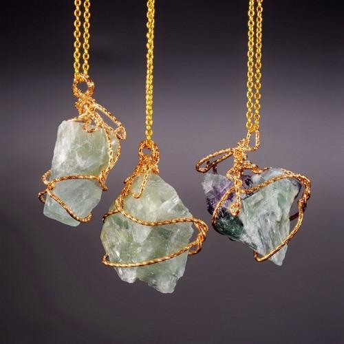 Protective Fluorite Crystal Necklace (Limited Edition) + 10% Donation