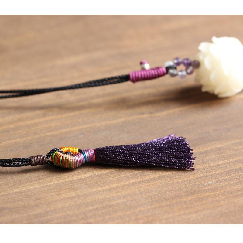 Lotus Bodhi Seed Necklace for Enlightenment (With Tassel)