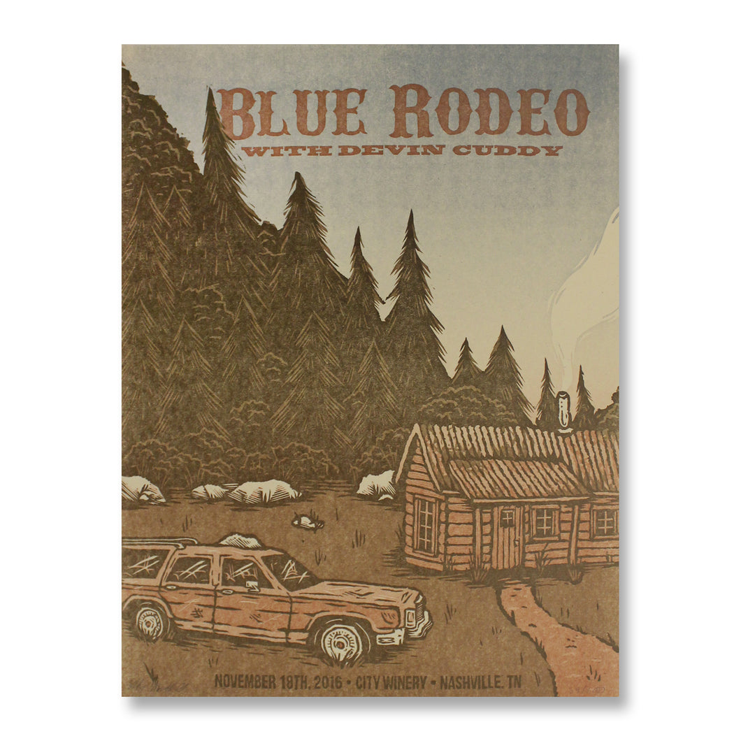 Blue Rodeo - Nov. 18, 2016 Gig Poster