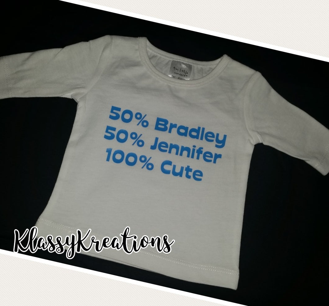 Personalised Baby Top