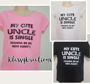 Childrens T-Shirt - My Cute Uncle