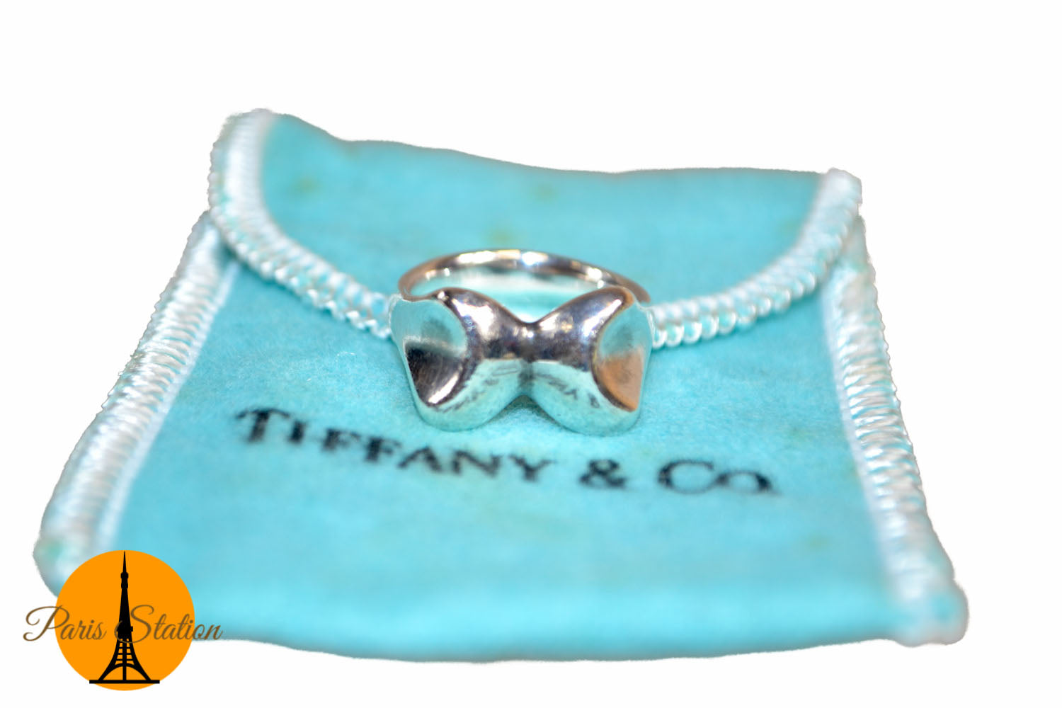 Authentic Tiffany & Co. Sterling Silver Butterfly Ring Size 4.5