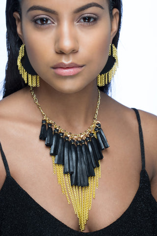 Chandelier Fringe Necklace