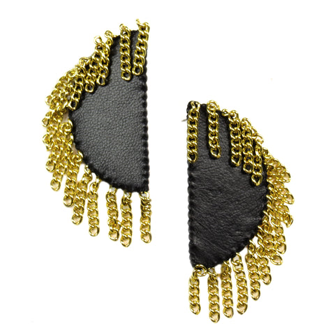 Chandelier Ellipse Earrings - Ebony