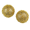Caviar Post Earrings - Gold