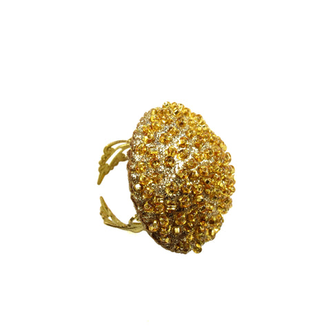 Caviar Cocktail Ring - Gold