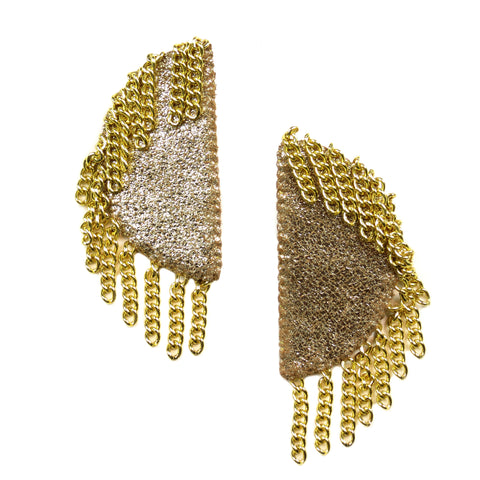 Chandelier Ellipse Earrings - Gold