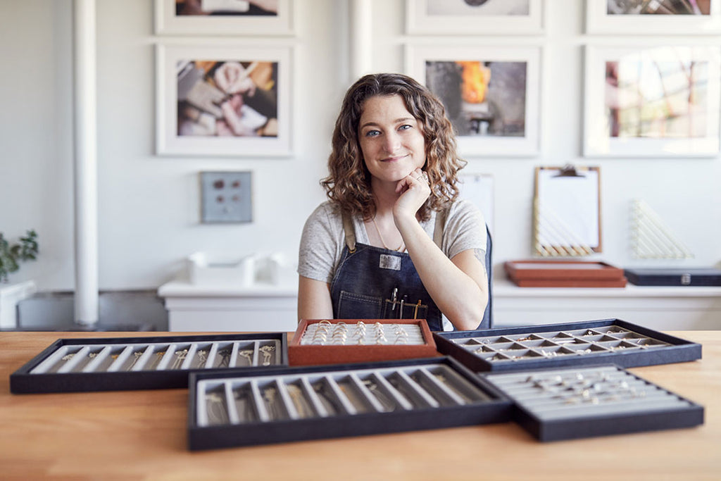 Corey Egan in her Jewelry Studio, Berkeley, California