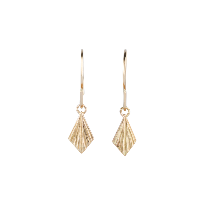 Gold Flame Earrings by Corey Egan