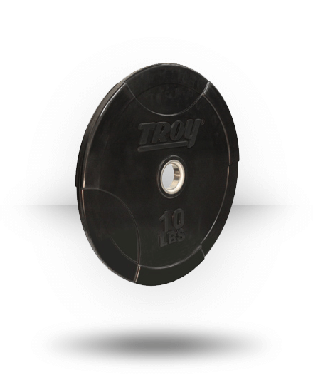 "York Solid 2"" Inter-Locking Bumper Plate With Steel Insert 10 lb"