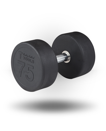Body-Solid Rubber Pro-Style Dumbbell 75 lb