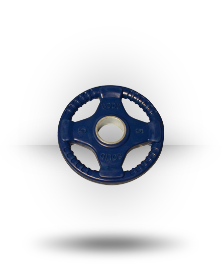 Body-Solid Rubber Grip Olympic Plate (Colored) Dk Blue 5 lb
