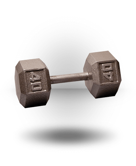 Body-Solid Hex Dumbbell 40 lb
