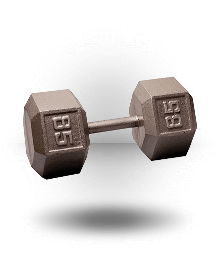 Body-Solid Hex Dumbbell 85 lb