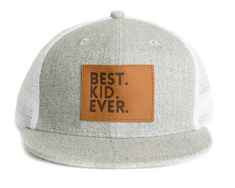 Best Kid Ever Snapback Hat in Gray/White