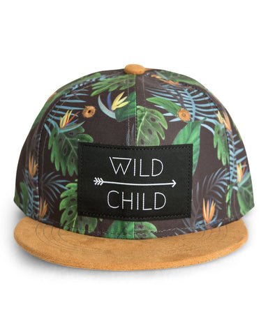 Wild Child Snapback Hat in Tropical Print