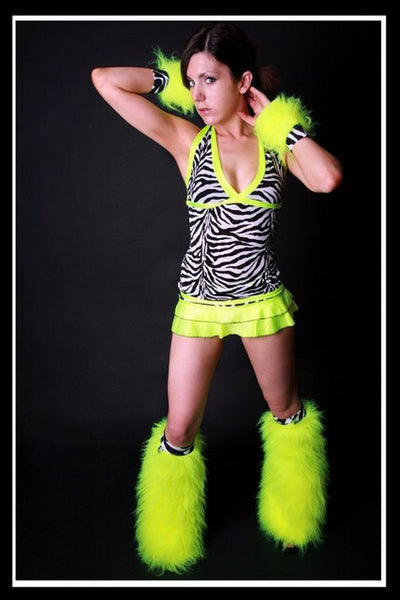 Long Trance Yellow Zebra Outfit