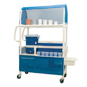 MJM Ice Cart with Skirt Cover-Panels and Mesh Canopy