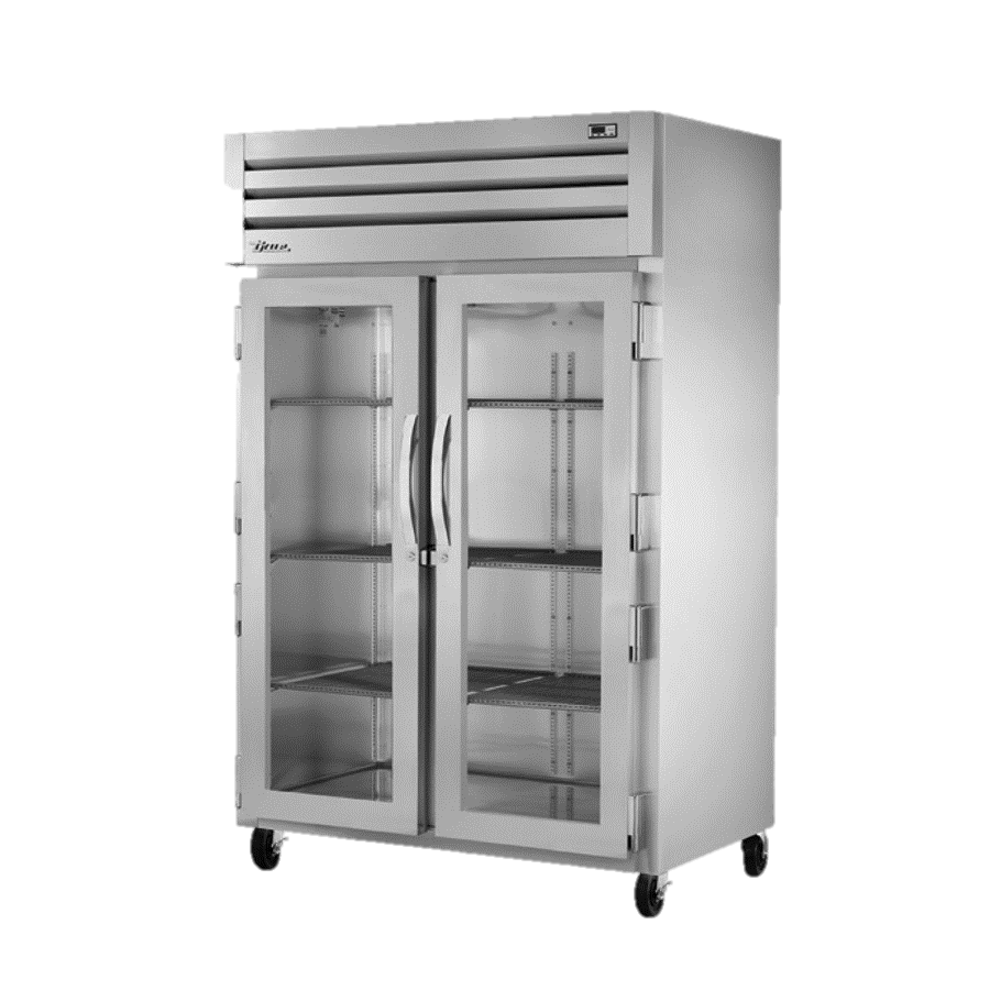 True Two-Section Two Glass Door Reach-In Refrigerator