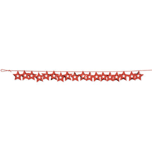 Red Stars Confetti Garland