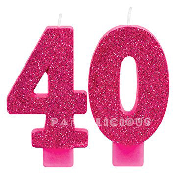 Candle Numeral Glitter # 40
