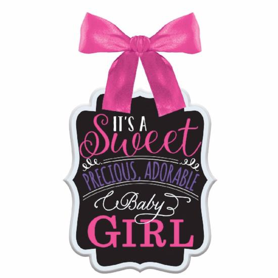 Baby Shower Sign Girl MDF